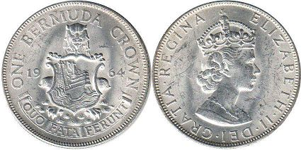 Бермуды 1 крона - Bermuda 1 crown 1964