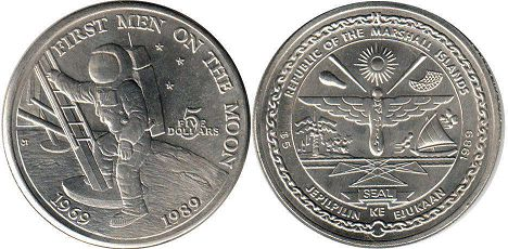 Marshall Islands 5 dollars 1989