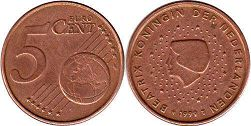 Netherlands 5 cents 1999