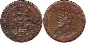 South Africa 1/2 penny 1936