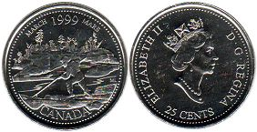 Canada 25 cents 1999