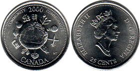 Canada 25 cents 2000