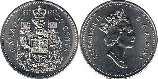 Канада 50 центов - Canada 50 cents 1992 125th Anniversary of Confederation