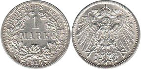 Германия 1 марка - Germany 1 mark 1915