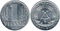Germany Democratic 1 pfennig 1968