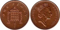 Great Britain 1 penny 1993