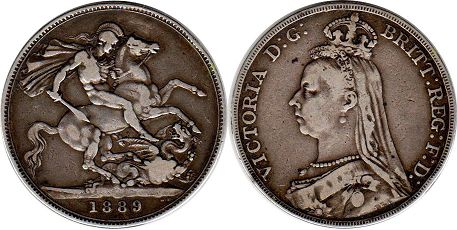 Great Britain crown 1889