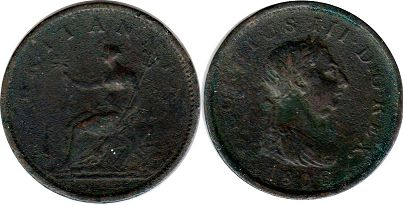 монета Великобритания 1 пенни 1808 - Great Britain penny 1806