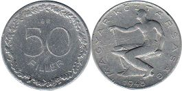 Hungary 50 fillers 1948