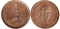 ЮАР 1 цент - South Africa 1 cent 1982