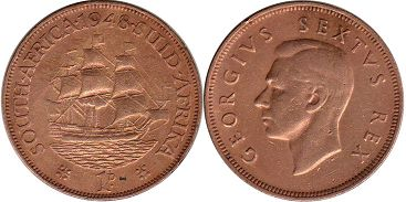 South Africa 1 penny 1948