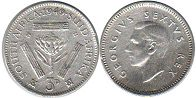 South Africa 3 pence 1949