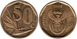 ЮАР 50 центов - South Africa 50 cents 2005