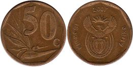 ЮАР 50 центов - South Africa 50 cents 2007