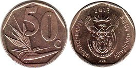ЮАР 50 центов - South Africa 50 cents 2012