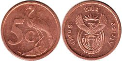 ЮАР 5 центов - South Africa 5 cents 2004