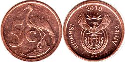 ЮАР 5 центов - South Africa 5 cents 2010