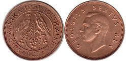 South Africa 1/4 penny 1951