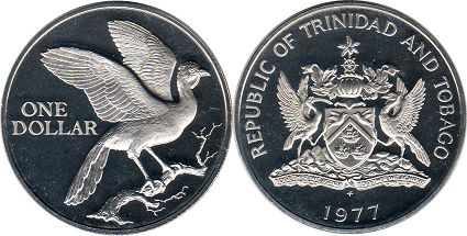 Тринидад и Тобаго 1 доллар - Trinidad and Tobago 1 dollar 1977