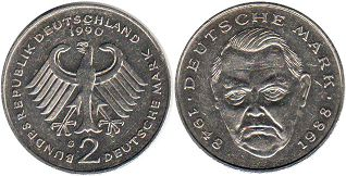 Германия ФРГ 2 марки - Germany 2 mark 1990