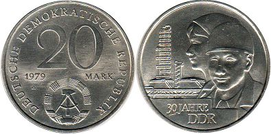 Germany DDR 20 mark 1979