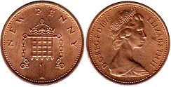 Great Britain penny 1976
