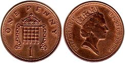 Great Britain penny 1986