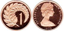 New Zealand 1 cent 1979