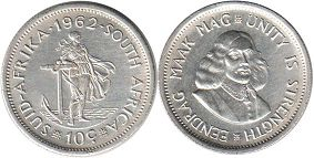 ЮАР 10 центов - South Africa 10 cents 1962