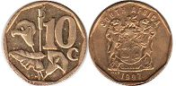 ЮАР 10 центов - South Africa 10 cents 1997