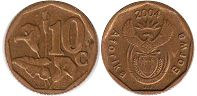ЮАР 10 центов - South Africa 10 cents 2004