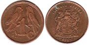 ЮАР 1 цент - South Africa 1 cent 1998