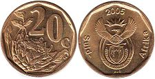 ЮАР 20 центов - South Africa 20 cents 2005