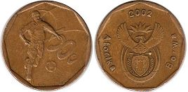 ЮАР 50 центов - South Africa 20 cents 2002 Football