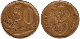 ЮАР 50 центов - South Africa 20 cents 2003