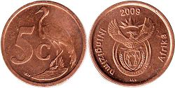 ЮАР 5 центов - South Africa 5 cents 2009
