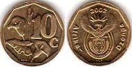 ЮАР 10 центов - South Africa 10 cents 2002