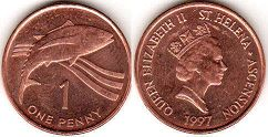 Saint Helena and Ascension 1 penny 1997