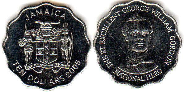 Jamaica 10 Dollars 2005