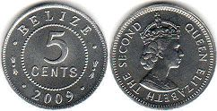 Белиз 5 центов - Belize 5 cents 2009