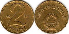 монета Венгрия 2 форинта 1988