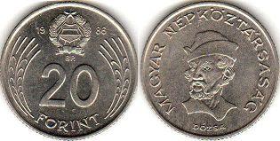 монета Венгрия 20 форинтов 1986