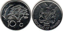 Namibia 10 cents 2009