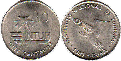 Diez Centavos 10 Intur / Diez Centavos