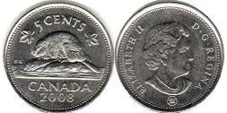Канада 5 центов - Canada 5 cents 2008