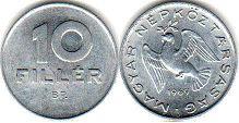 монета Венгрия 10 филлеров 1969
