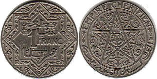 Morocco 1 franc ND (1921)
