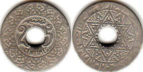 Марокко 25 сантимов- Morocco 25 centimes ND (1921)