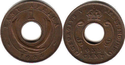 Британская Восточная Африка 1 цент - BRITISH EAST AFRICA 1 cent GEORGIVS V