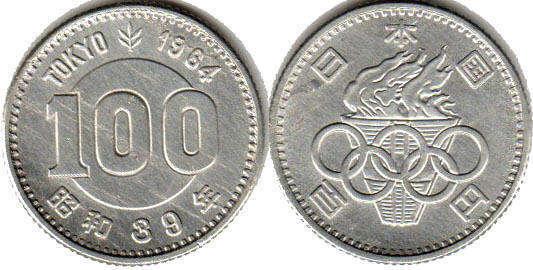 Монеты Японии. Онлайн каталог монет